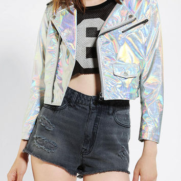 CULT By Lip Service Hologram Moto Jacket