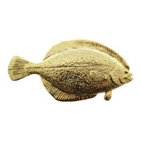 Flounder Pin ~ 24K Gold ~ Lapel Pin