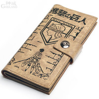 Japanese Anime Attack on Titan Levi/Rivaille Eren Mikasa Cosplay Accessories Long Wallet/Purse