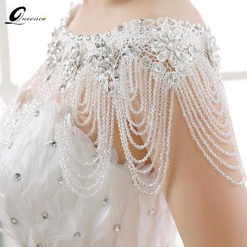 New Luxury Lace Bridal Shoulder Chains Noble Wedding Chains Women Shoulder Straps Jewelry full Crystal Big Necklace