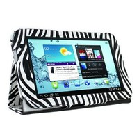 KIQ Zebra Design Portfolio Leather Case Cover for Samsung Galaxy Tab 2 7 inch Tablet P3100 with Built in Stand