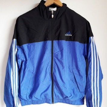 ON SALE 25% Vintage Adidas Trefoil Big Logo Streetwear Jacket Medium