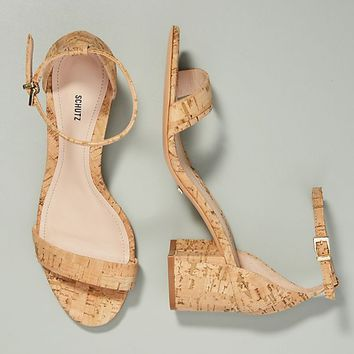 Schutz Chimes Cork Heeled Sandals