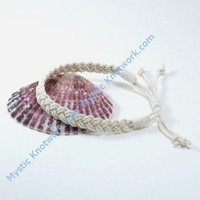 The Sailors Anklet White Woven Cotton