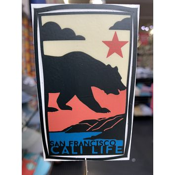 San Francisco Cali Life Bear Sticker