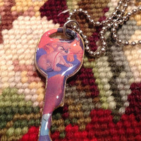 Disney's Lady and the Tramp Scamp Altered Art Key Necklace