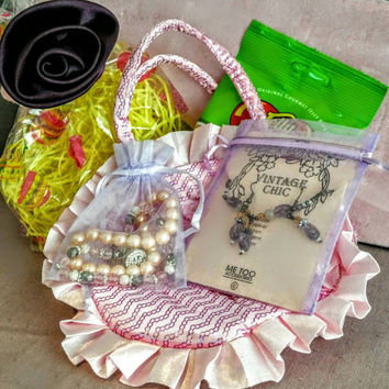 Boutique Easter Basket Bag Jewelry Sets for Young Girls Little Ladies - Fashion Jewelry Easter Surprise