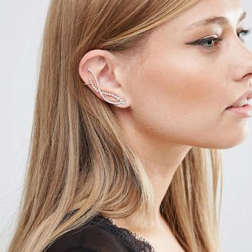 Love Rocks Swirl Ear Climber at asos.com