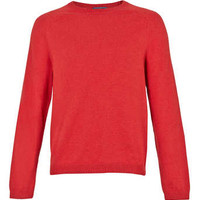 Red Saddle Seam Sweater - New This Week - New In