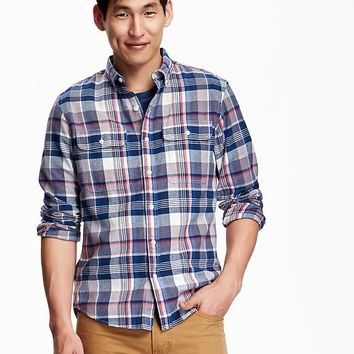 Shop old navy plaid shirts men on wanelo for Mens slim fit flannel shirt