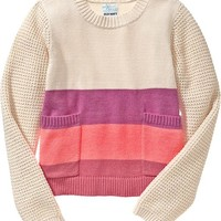 Old Navy Girls Color Block Sweaters