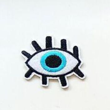 Evil Eye Patch with Double Lashes