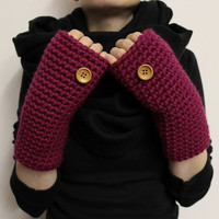 Pink Wrist Warmers, Texting Mittens, Fingerless Gloves, Chunky Wrist Warmers, Texting Gloves, Open Mittens, Crochet Hand Warmer, Open Gloves