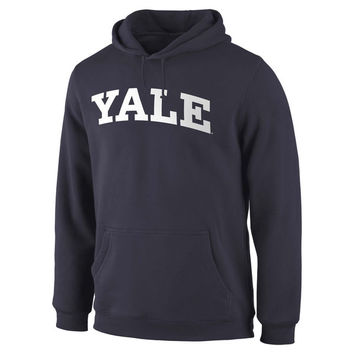 Yale Bulldogs Fanatics Branded Basic Arch Expansion Hoodie - Navy