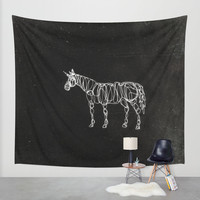 Electric Unicorn Wall Tapestry by That's So Unicorny | Society6