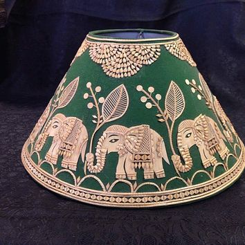 Elephant Trumpets Sikki (Dry Grass) Lamp Shade