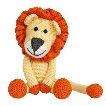 Leo Lion Handmade Organic Stuffed Animal