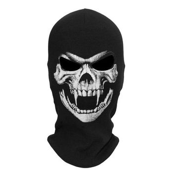 DCCKH6B Death Grim Reaper Ghost Skull Skeleton Military Hats Tactical Army Cosplay Costume Balaclava Motorcycle Halloween Full Face Mask