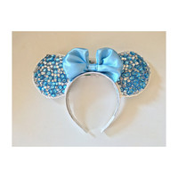 Diamond Cinderella Blue Minnie Ears