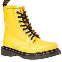 Dr. Martens Boot Drench 8 Eye in Matte Yellow