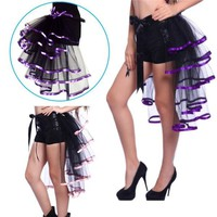 s Cosplay Tutu Skirts Sexy Costumes Dance Clothing Polyester Gauze Elastic Band ED167-01