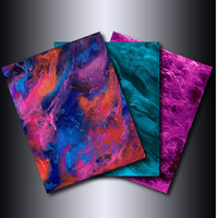 Set of 3 11x14 Prints:  Fuchsia Turquoise Multi-Coloured