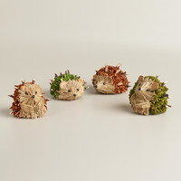 Mini Natural Fiber Hedgehogs, Set of 4 - World Market