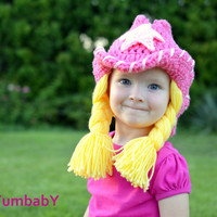 Cowgirl Pigtail Hat Halloween Costume