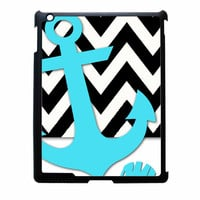 Chevron Anchor Personalized iPad 2 Case
