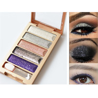 5 Color Waterproof Eyeshadow Palette