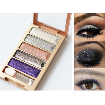 5 Color Waterproof Eyeshadow Makeup Eye Shadow Palette