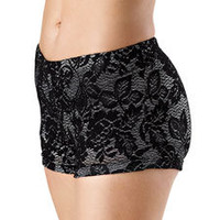 Metallic Lace Overlay Dance Shorts; Balera