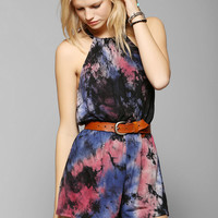 Staring At Stars Tie-Dye Halter Romper - Urban Outfitters