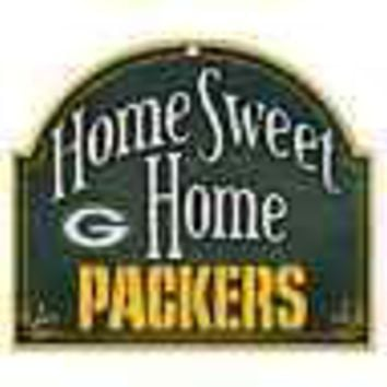 "GREEN BAY PACKERS HOME SWEET HOME ARCHED WOOD SIGN 10""x11"" BRAND NEW WINCRAFT"