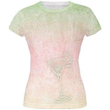 Summer Cocktail Martini All Over Juniors T Shirt