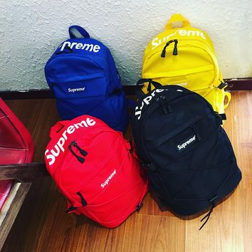 Supreme Canvas Backpack School Bookbag Travel Bag Daypack