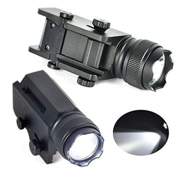 2000 Lumen 1 Mode XML L2 LED Gun Flashlight Torch Flash Light with Quick Release Weaver Mount For Picatinny rail