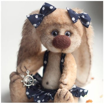 Teddy Bear Elli Artist Bear OOAK Easter by SoftlyBearPaw on Etsy
