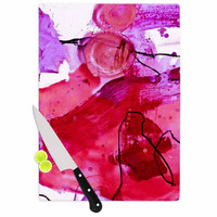 "Iris Lehnhardt ""Abstract"" Pink Purple Cutting Board"