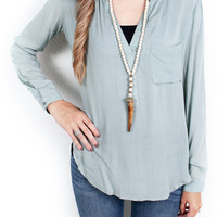Valley Blues Blouse