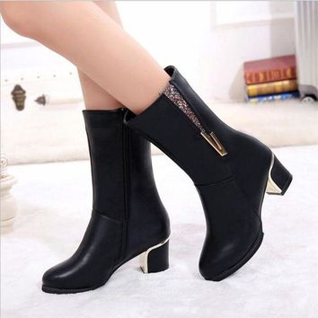 ca DCCKTM4 On Sale Hot Deal High Heel Dr. Martens Round-toe Plus Size Classics Boots [11192814535]