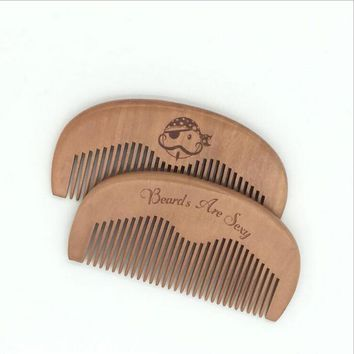New 1 PCS Pocket Wooden Comb Super Wood Combs No Static Beard Comb Hair Styling Tool