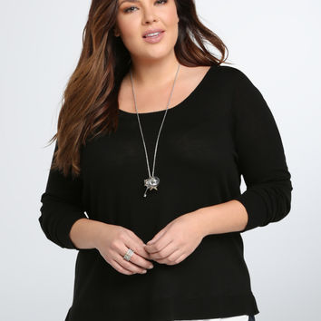 Tie Back Layered Sweater