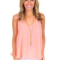 Playing Along Peach Top | Monday Dress Boutique