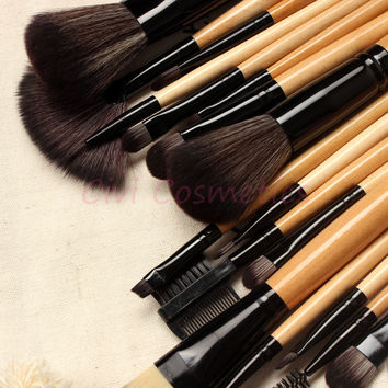 Professional Makeup Brushes Set 18 pcs Makeup Brushes & Tools, With Drawstring Bag