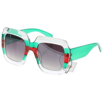 Square Oversized Translucent Sunglasses