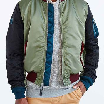 Palladium X Alpha Industries Slim-Fit MA1 Bomber Jacket- Green