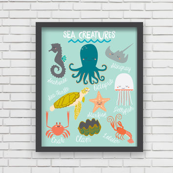 I Love Sea Life! Art Print