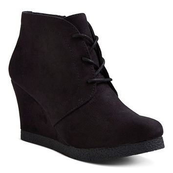 Women's Terri Lace Up Wedge Booties - Merona®