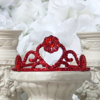 Princess Tiaras - Birthday Gift - Princess Party - Red Tiara - Glitter Headband - Birthday Party - Red Hair Accessories - Party Accessories